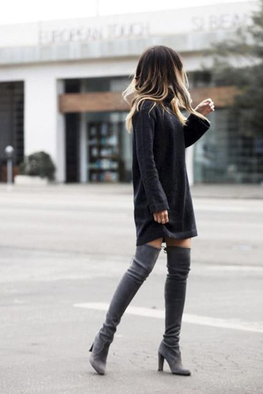 in&out over the knee. Botas over the knee: In