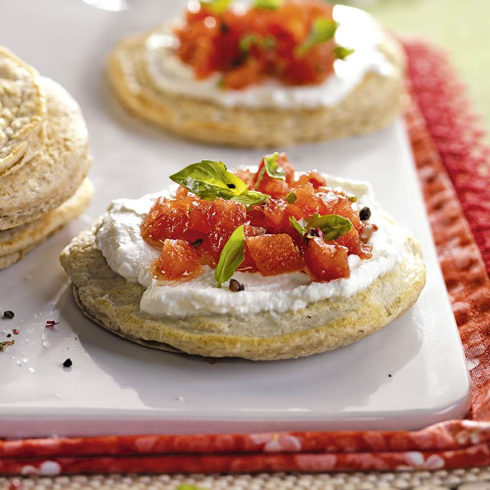 tortitas queso tomate. Tortitas con queso y tomate