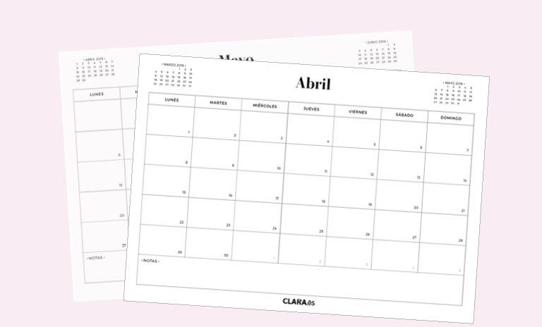 Calendario Diario Para Imprimir 2019.Calendario Abril 2019 Para Imprimir Gratis En Pdf Y Jpg