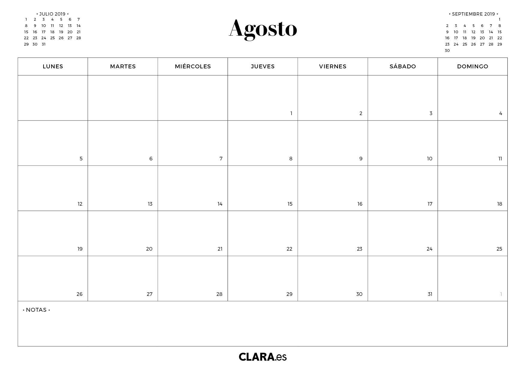 Calendario Agosto 2019 Da Stampare Gratis.Calendario Agosto 2019 Pdf Ikbenalles