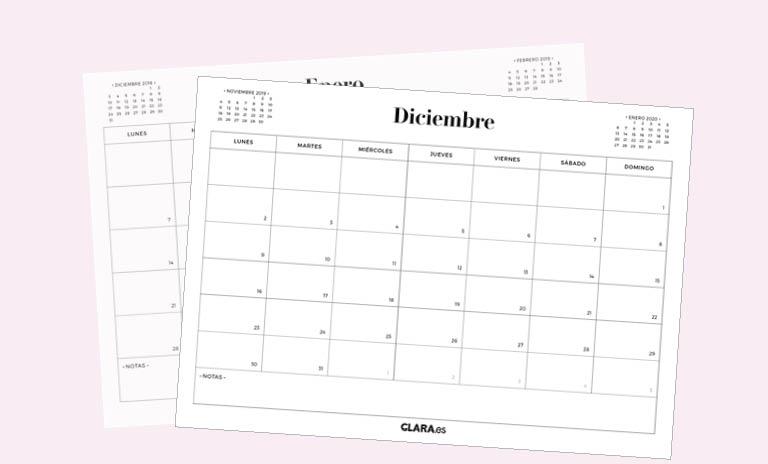 Calendario Mes De Octubre 2020 Para Imprimir.Calendario Diciembre 2019 Para Imprimir Gratis En Pdf Y Jpg