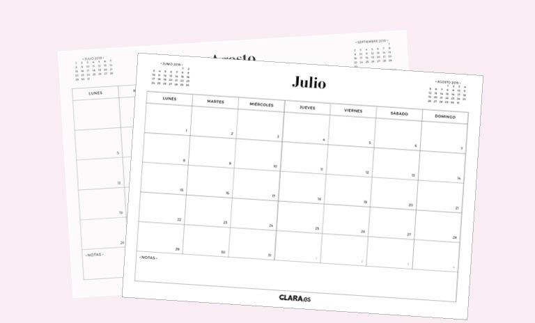 Julio Calendario.Calendario Julio 2019 Para Imprimir Gratis En Pdf Y Jpg