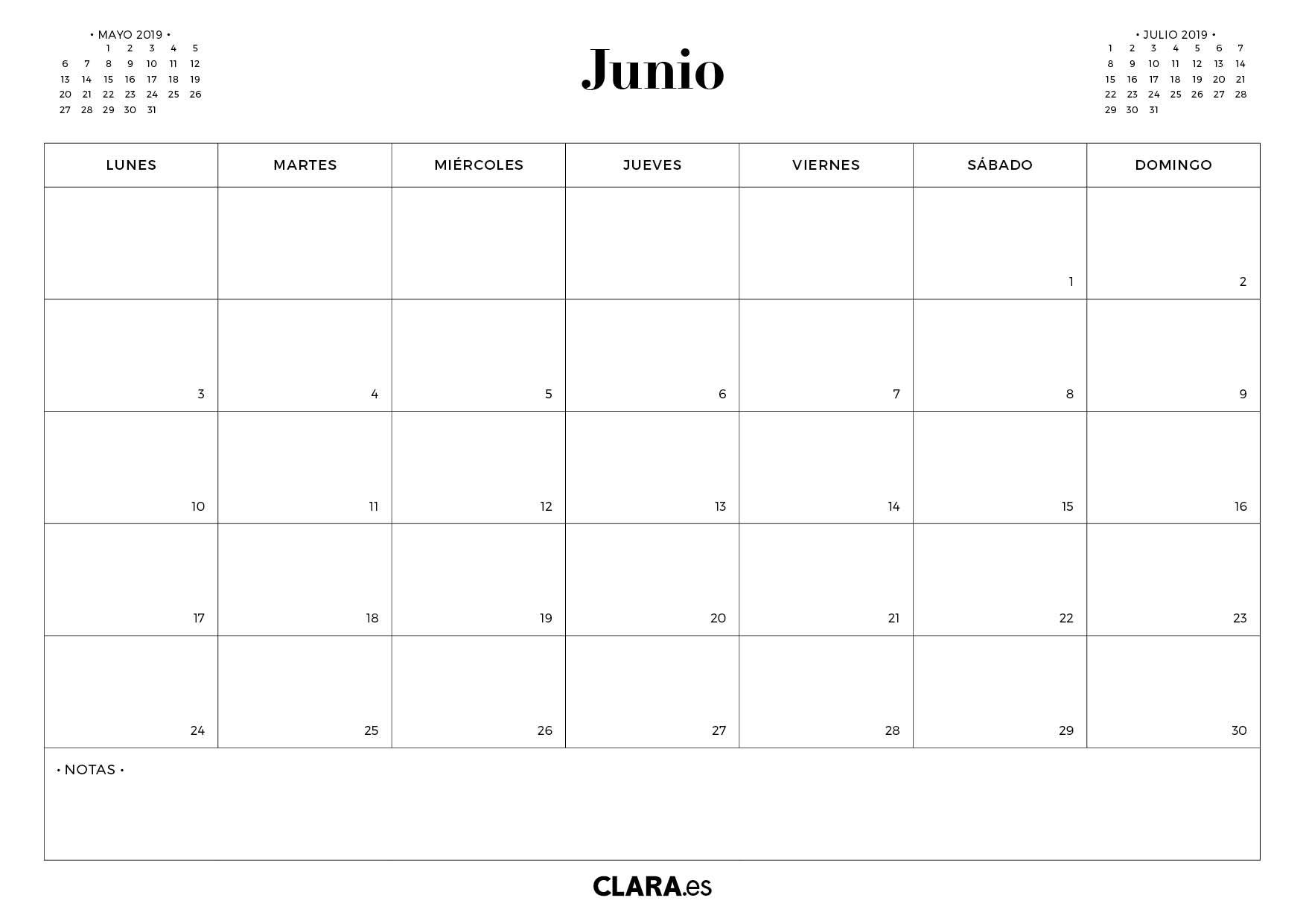 Calendario 2019 Para Imprimir Gratis En Pdf Y Jpg