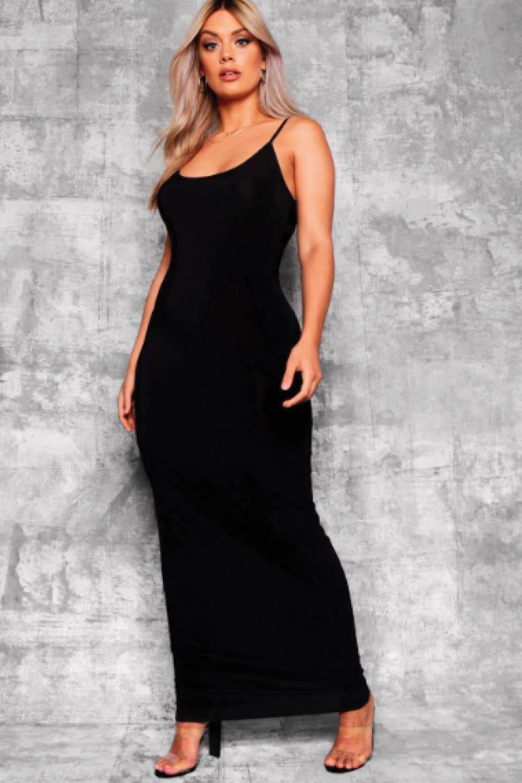 Vestidos de noche en color negro para gorditas