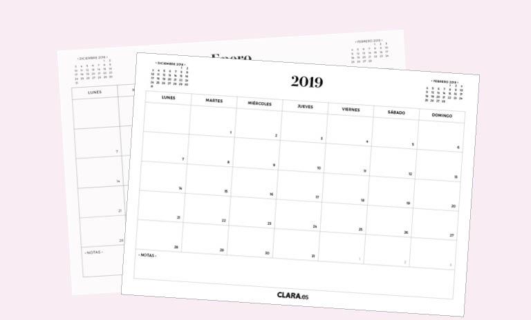 Calendario Mes De Octubre 2020 Para Imprimir.Calendario 2019 Para Imprimir Gratis En Pdf Y Jpg