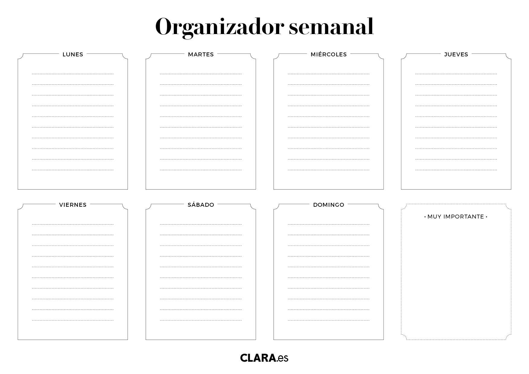 Calendario Diario Para Imprimir 2019.Planificador Y Organizador Semanal Gratis Para Imprimir