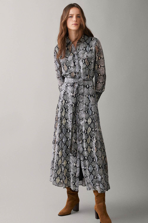 93c8537f4 vestidos de moda primavera-verano 2019 animal print massimo dutti 99
