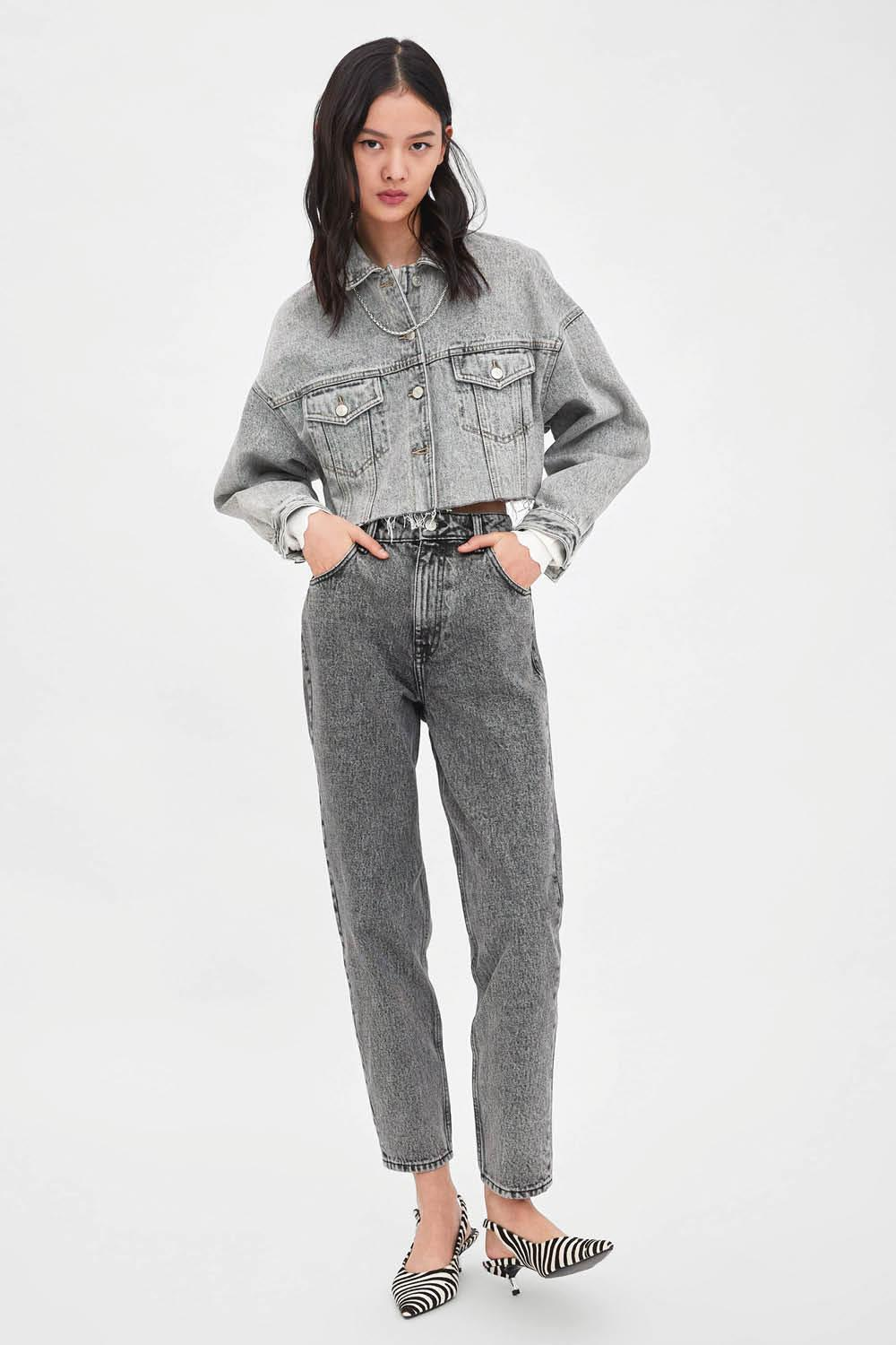 pantalon mom jeans zara tallas grandes. Mom jeans