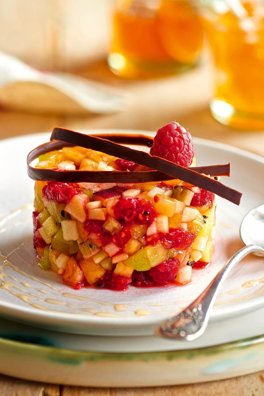 postres faciles tartar fruta. Tartar de fruta