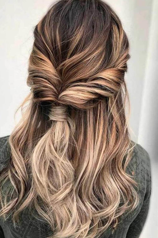 Atrevido y bonito peinados semirecogidos Imagen De Cortes De Pelo Tendencias - Semirecogidos pelo largo: los peinados más bonitos de la ...