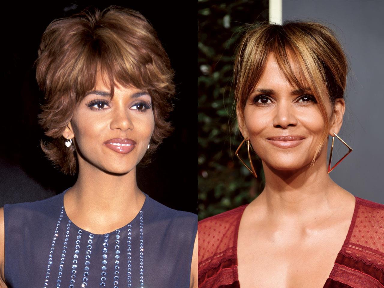 como aparentar 10 años menos Halle Berry. Halle Berry