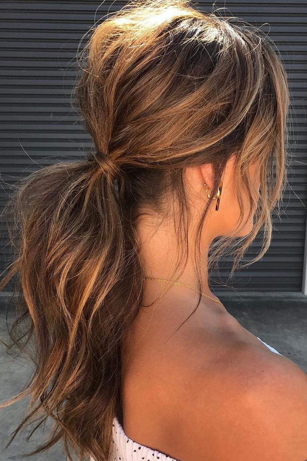 hairstyles long hair pigtail with volume
