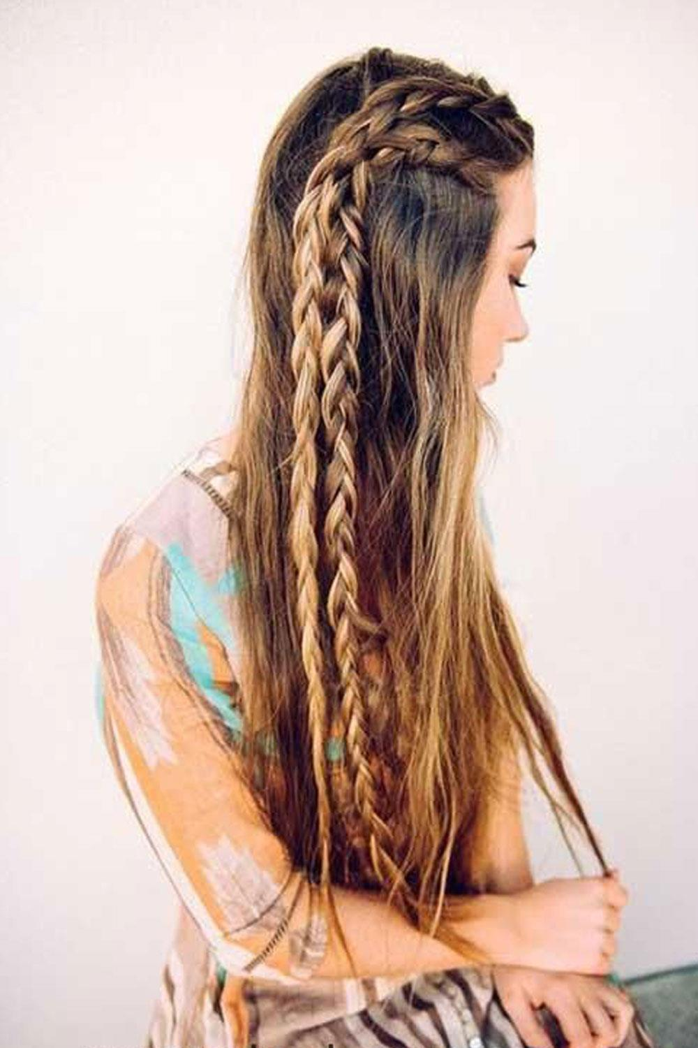 hairstyles long hair semirecogido tilted