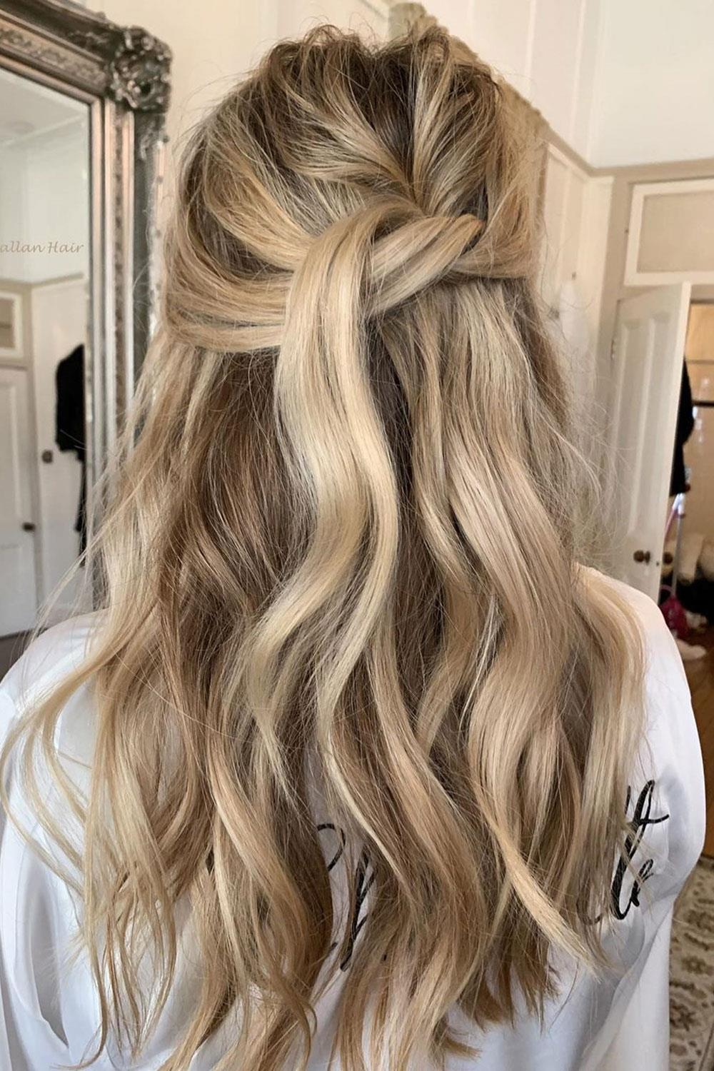 hairstyles long hair semirecogido knot