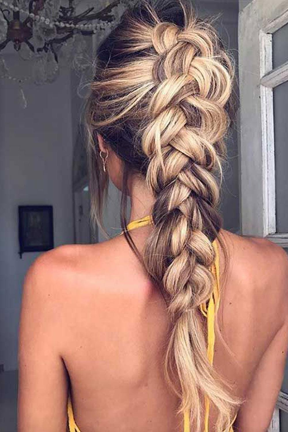 hairstyles long hair braid high