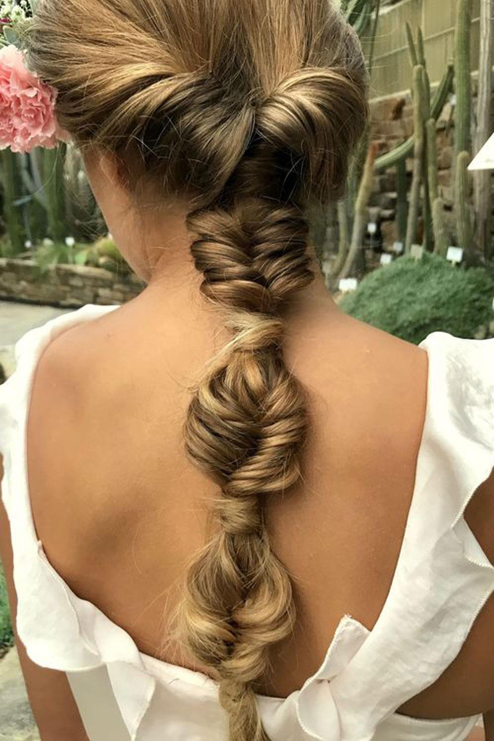 long hair hairstyles braid herringbone