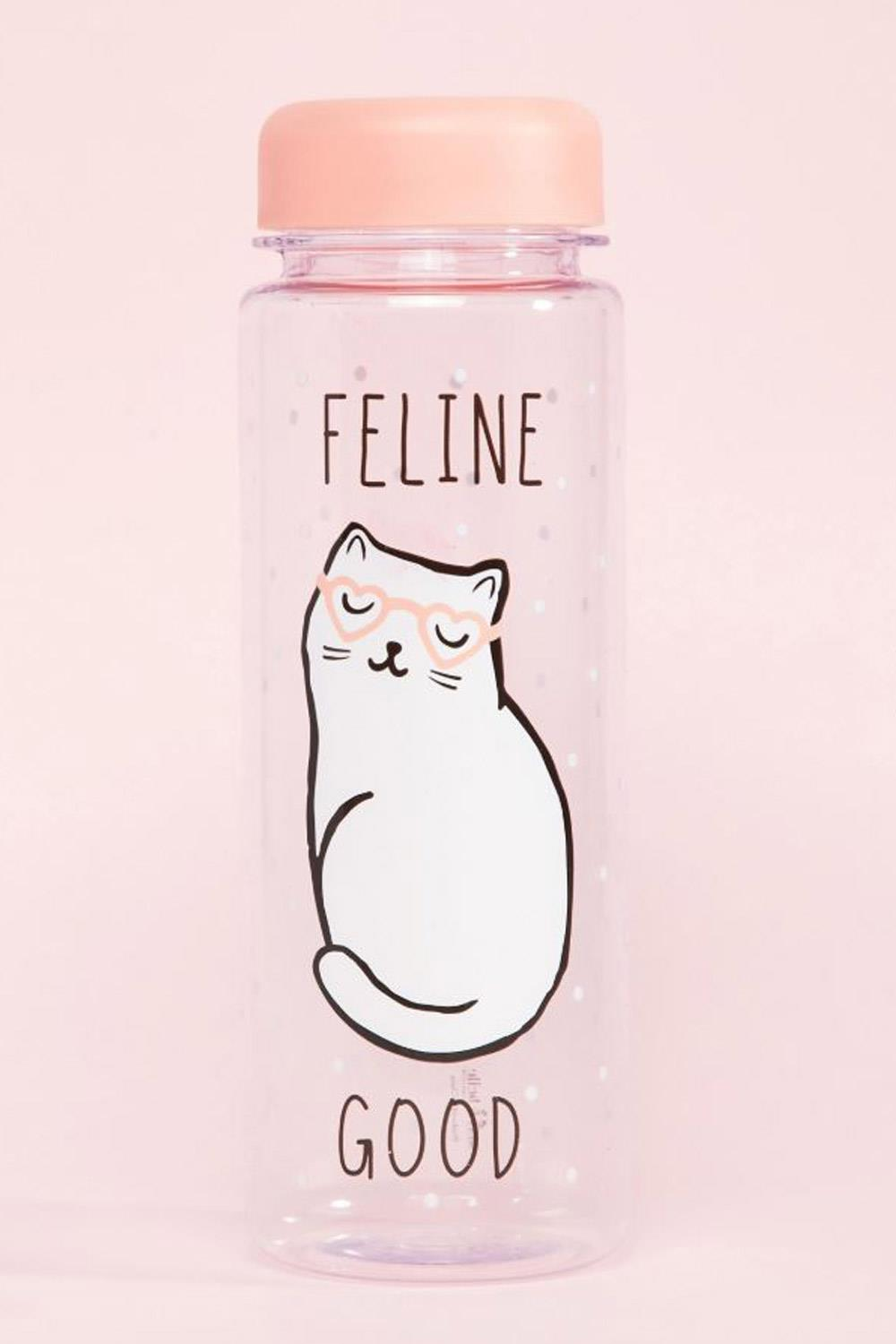 gatos asos Botella de agua feline good cat de Sass & Belle, 8,49€