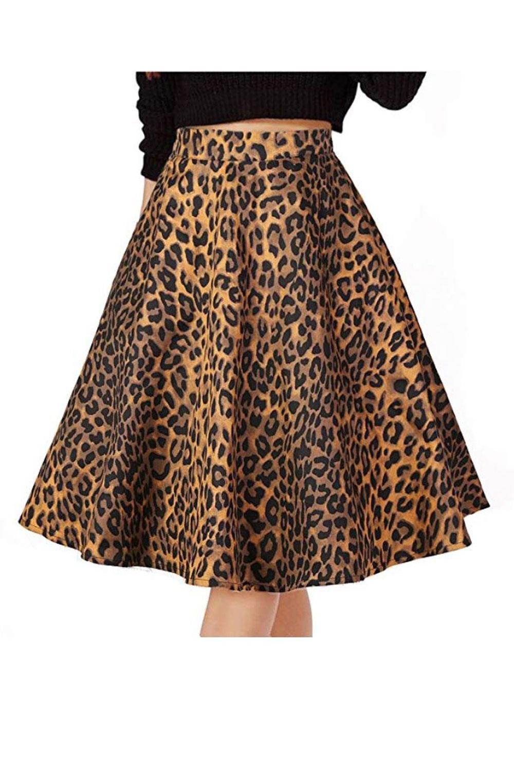 falda leopardo amazon Musever, 22€ aprox.