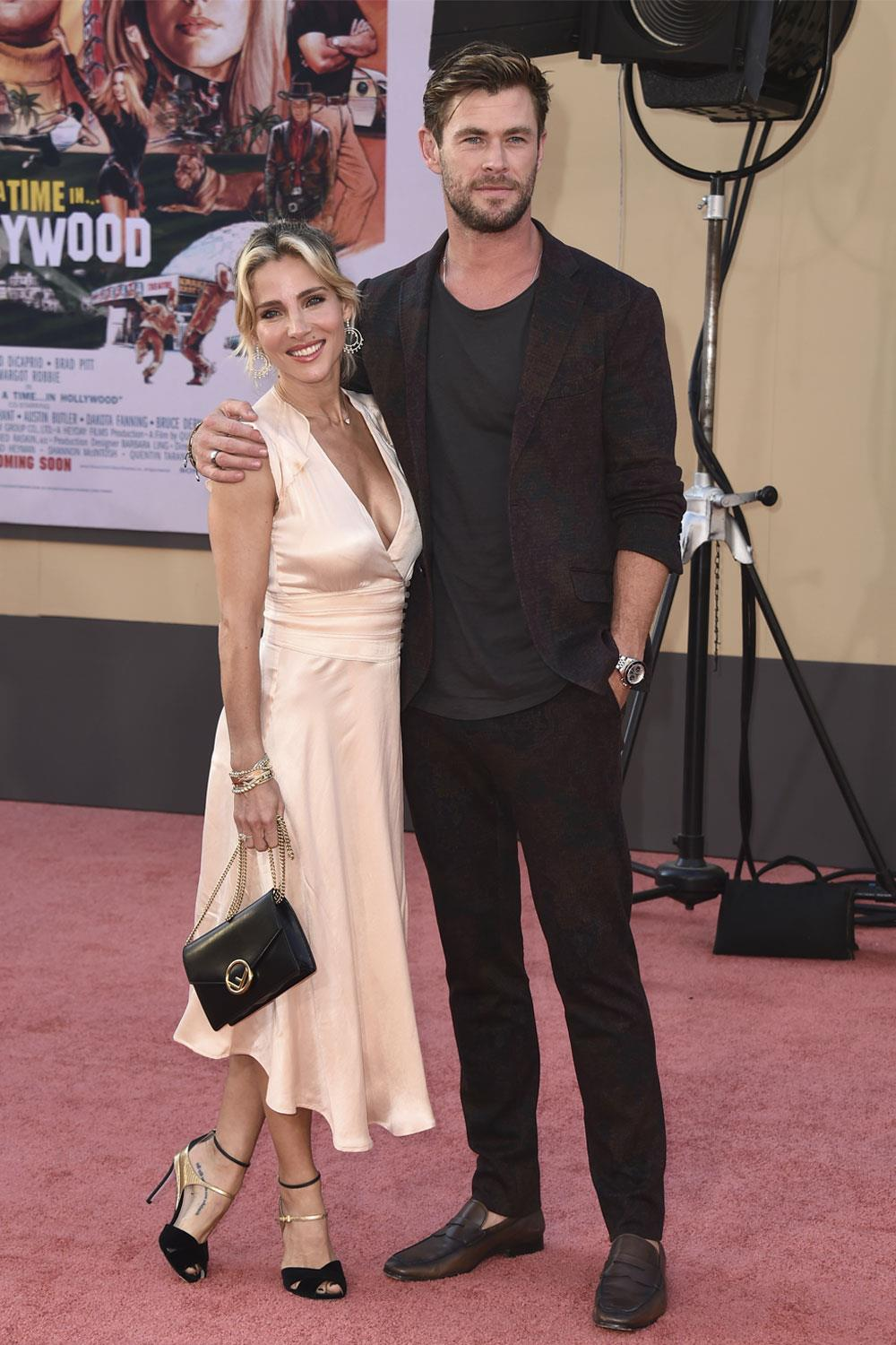 estreno érase una vez en hollywood Elsa Pataky Chris Hemsworth