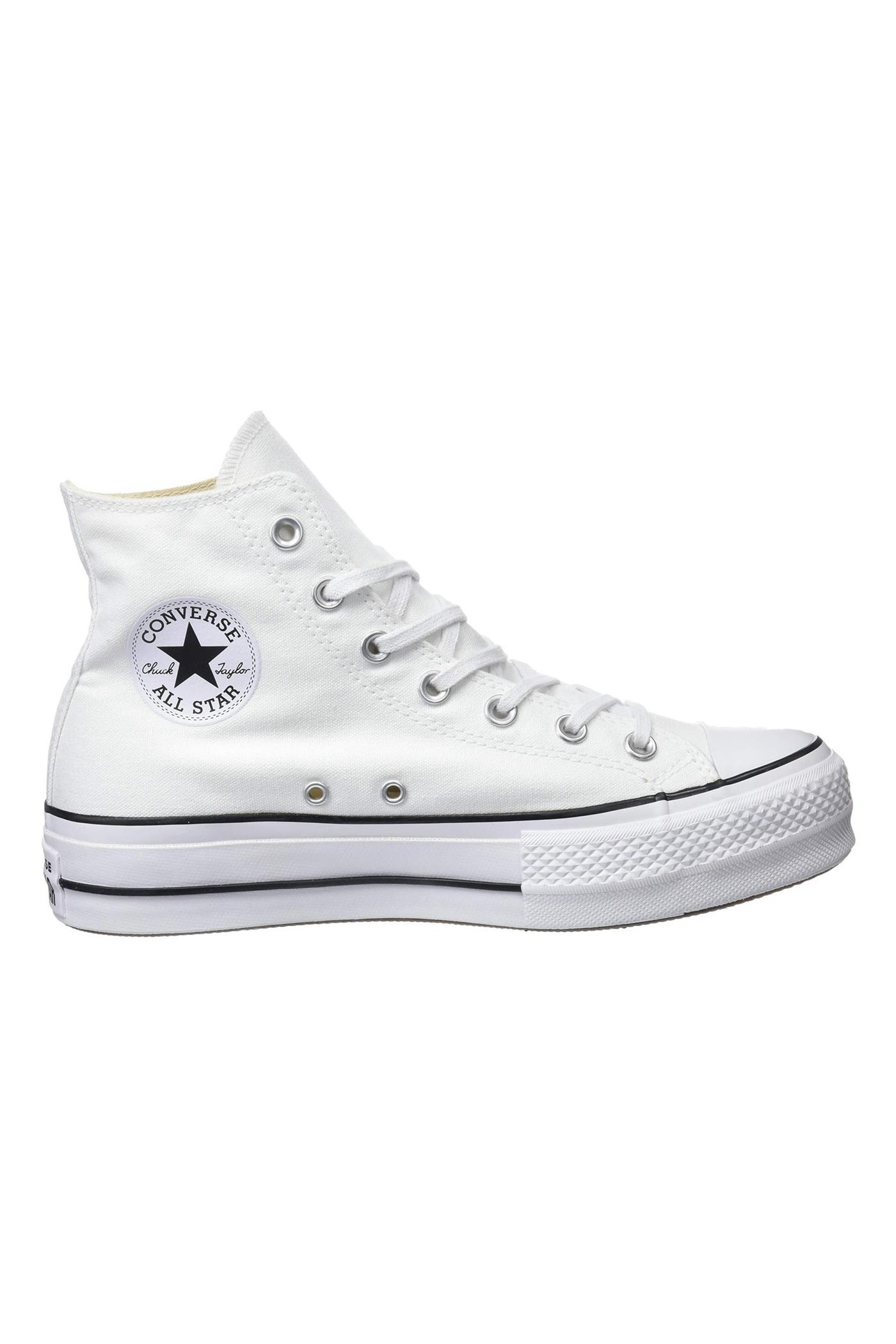 converse leather blancas plataforma