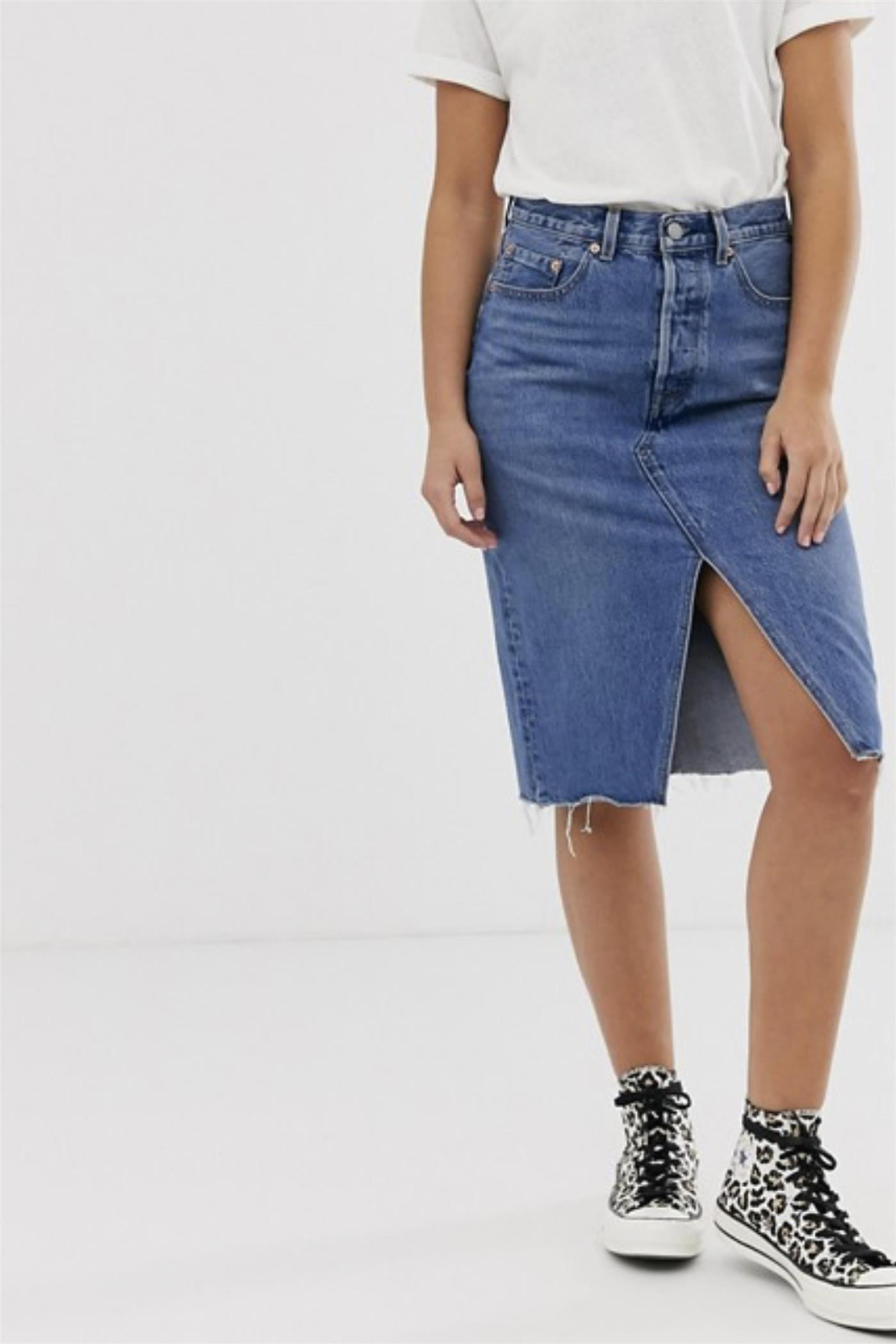 falda denim asos