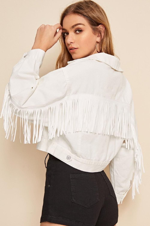estilo de moda de 2019 hermosa en color verdadero negocio Esta cazadora blanca y con flecos de Shein triunfa en Instagram
