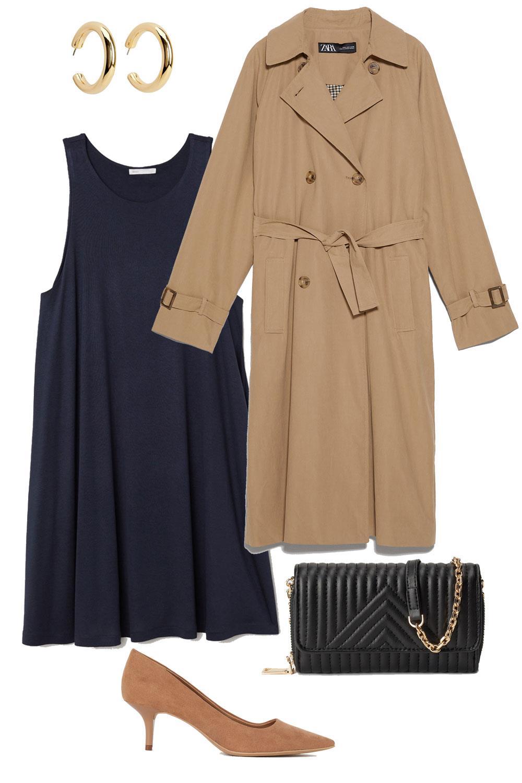 Cómo Combinar Un Vestido Azul Marino Con Estilo