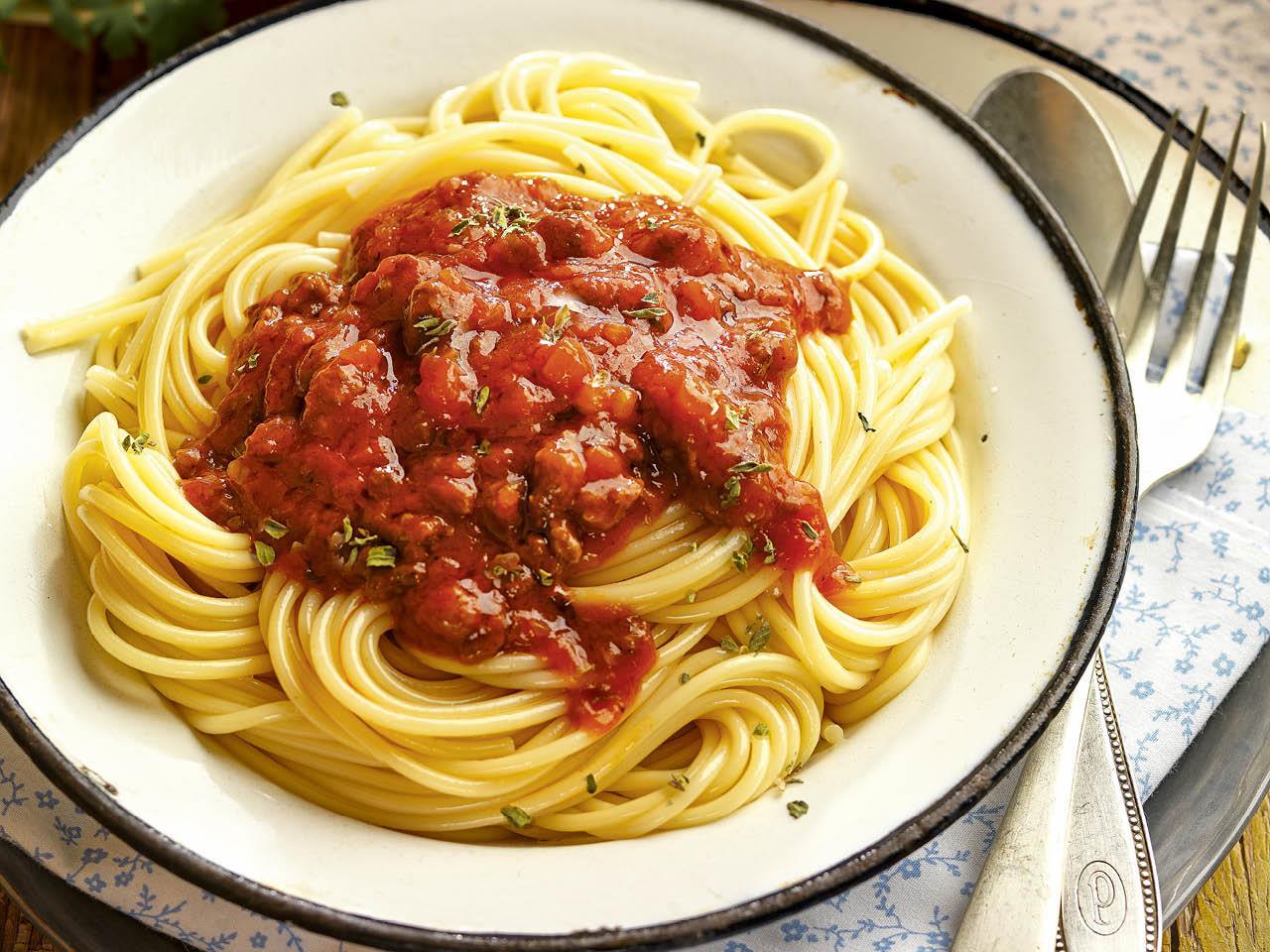 que comer hoy espaguetis salsa bolonesa