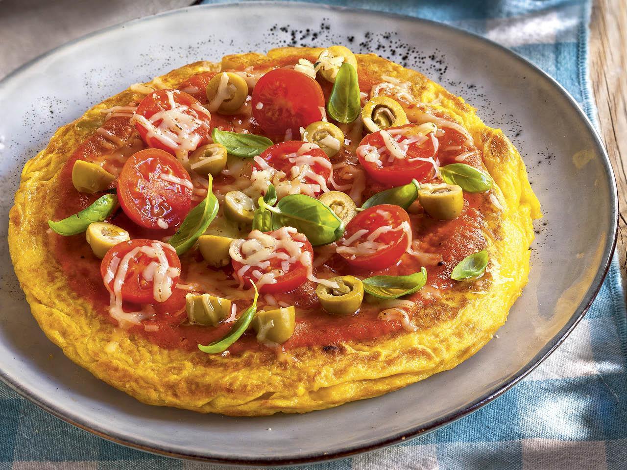 que comer hoy tortilla pizza tomate aceitunas