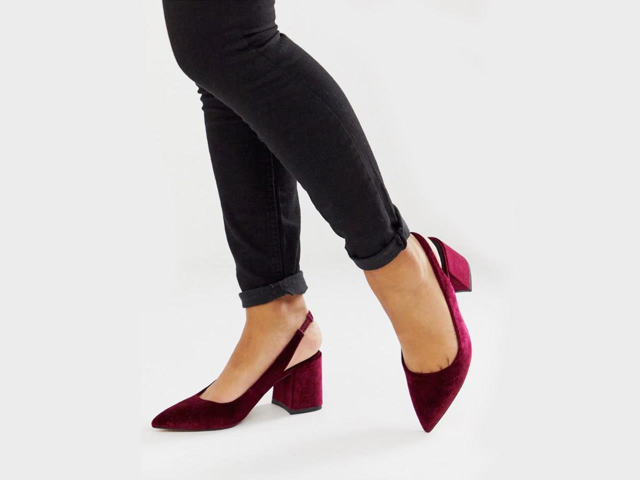 Zapatos de tacón bajo para que estas fiestas vayas monísima