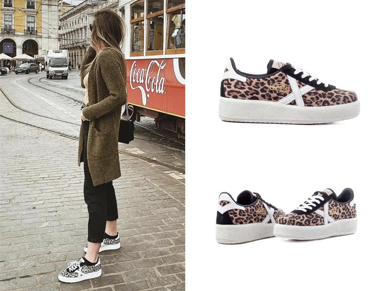 Zapatillas de leopardo Munich 94 euros