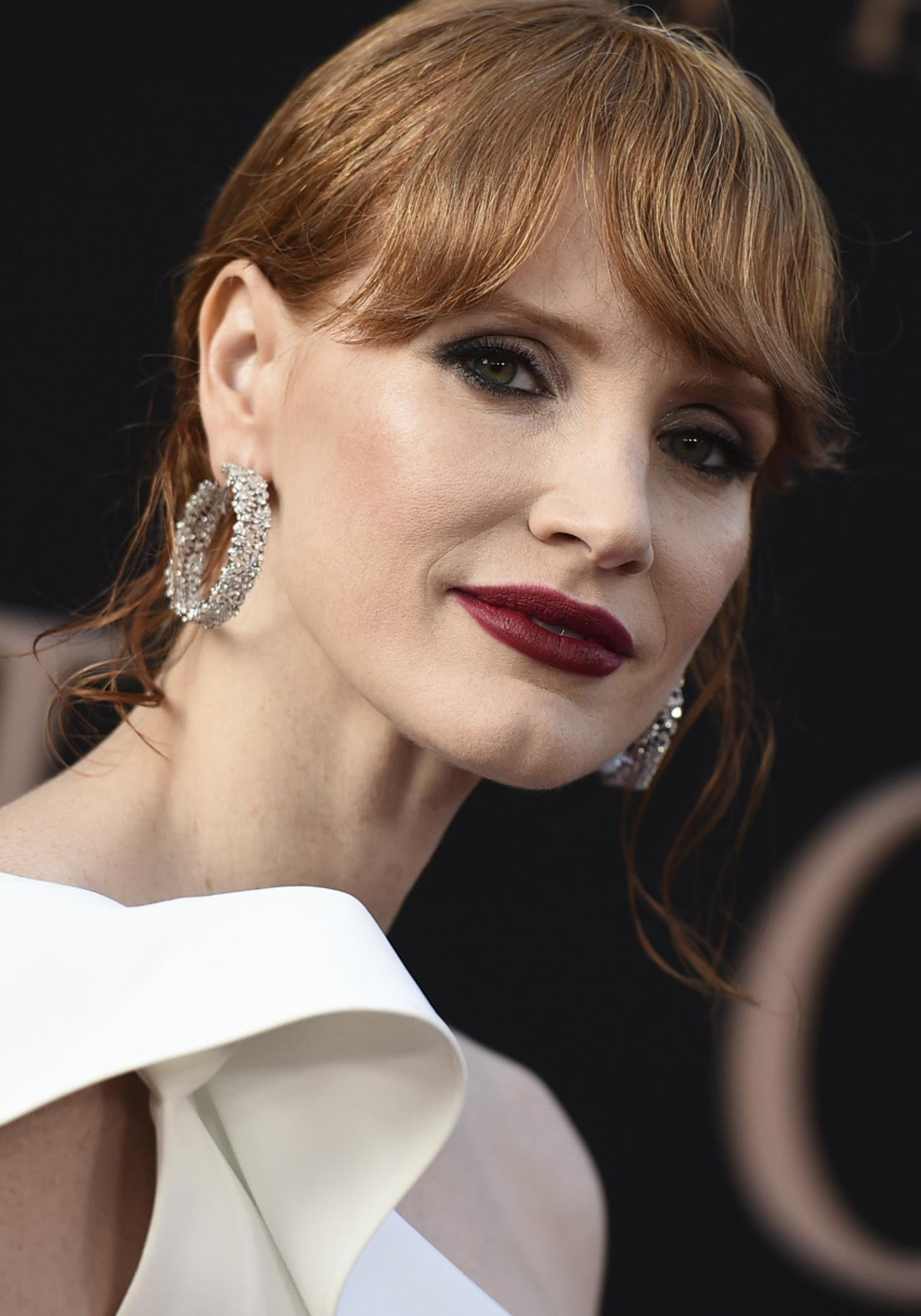 Jessica Chastain labios oscuros