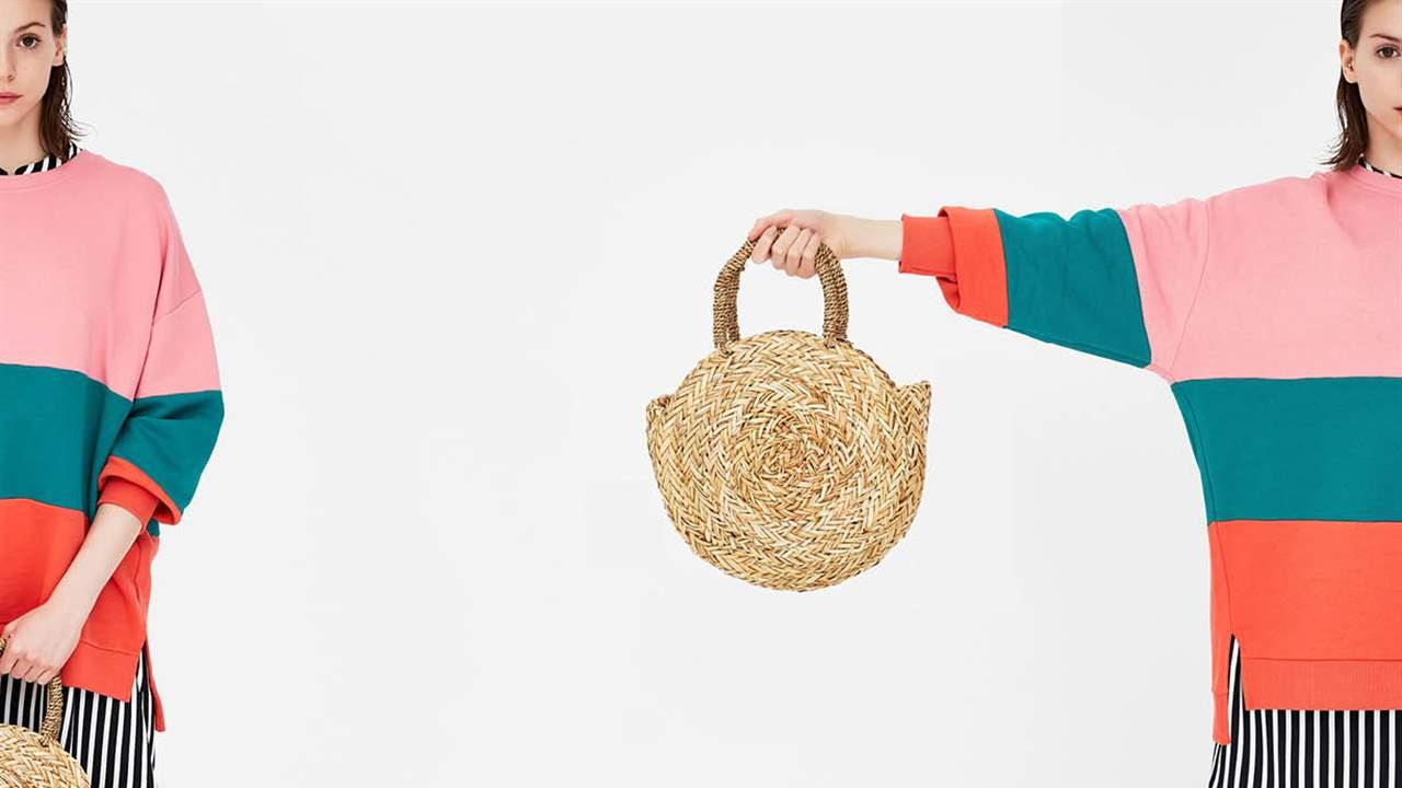 Bolsos para mujer natural fabricado en fibras naturales. Bandolera verano ideal playa. Bolso de paja redondo. Estilo natural con detalles elegantes.