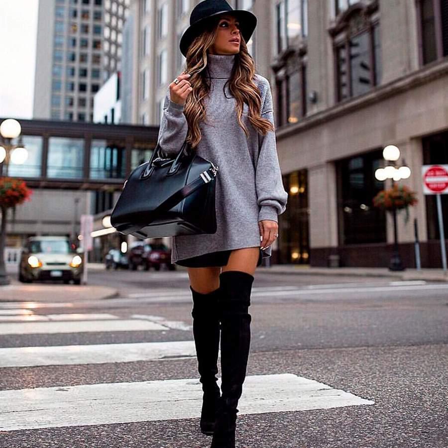 Vestidos Con Botas La Combinación De Moda Que Arrasa En