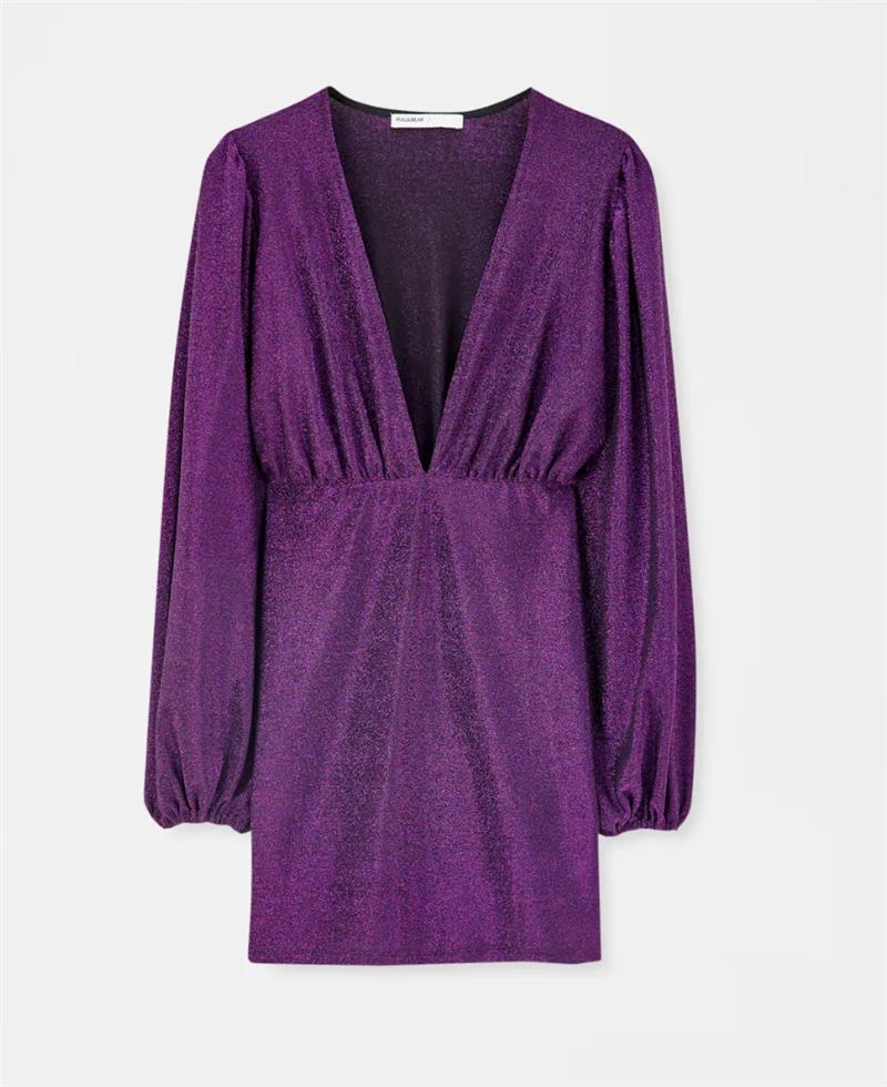 Grace Villarreal Tiene El Vestido Morado Low Cost Perfecto