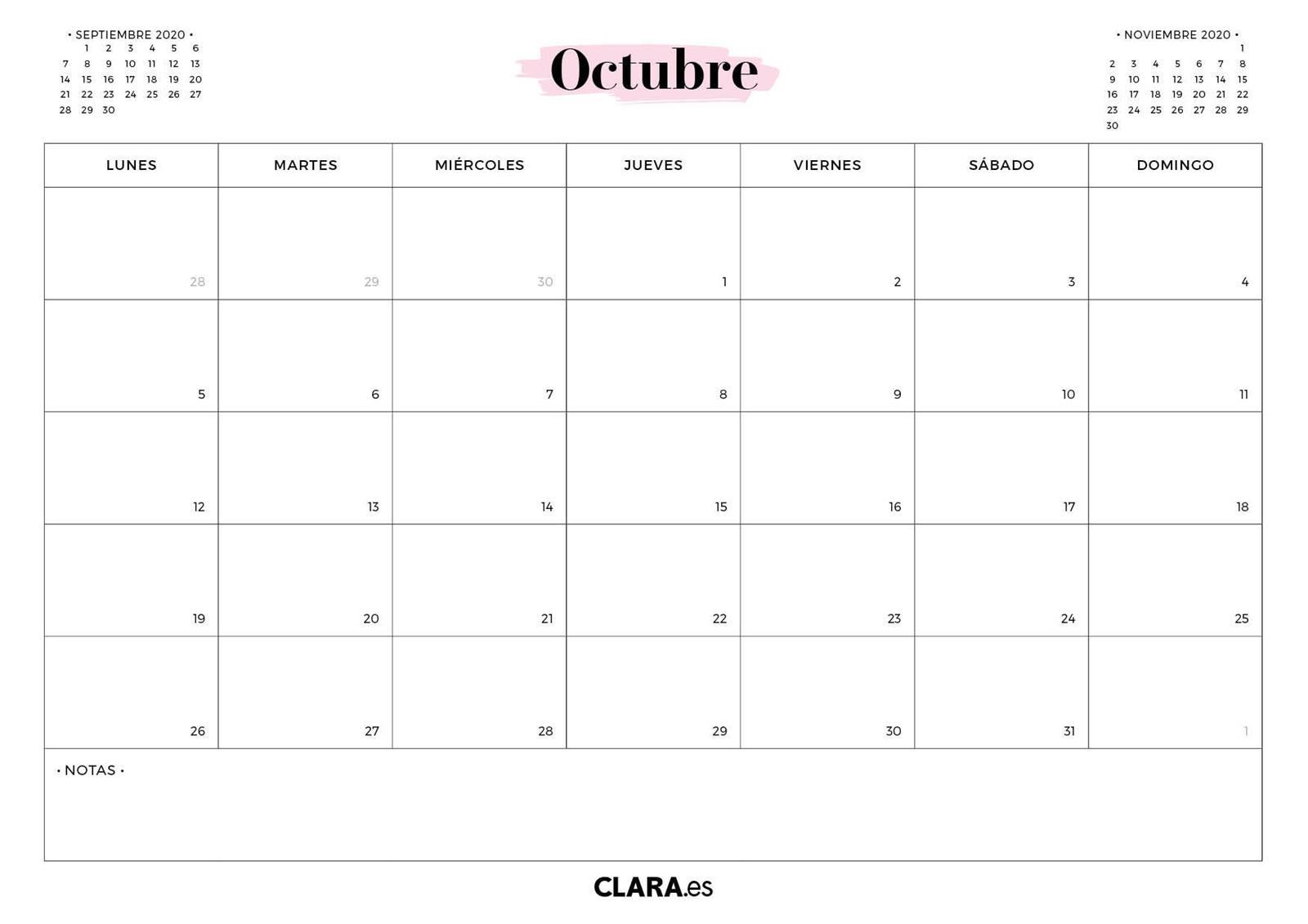 Calendario 2020 Para Imprimir Gratis En Pdf Y Jpg