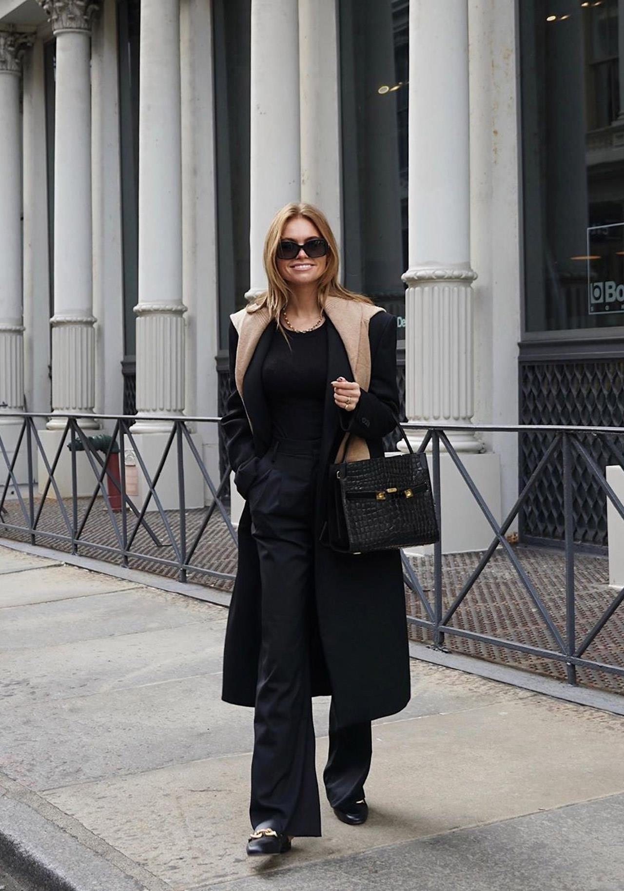 total look negro oficina streetstyle @clairerose