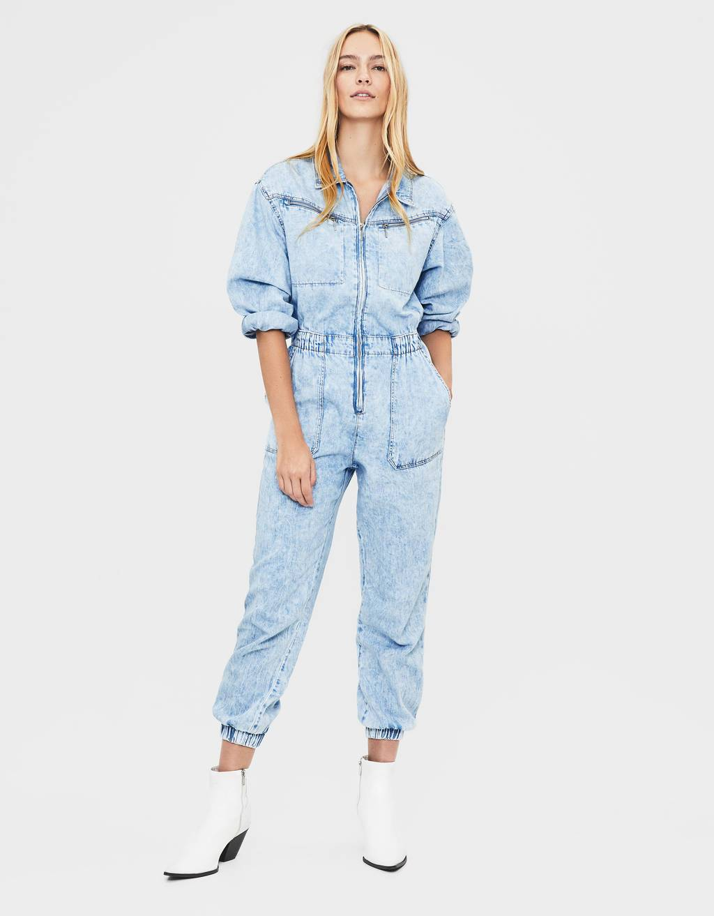 Mono denim largo