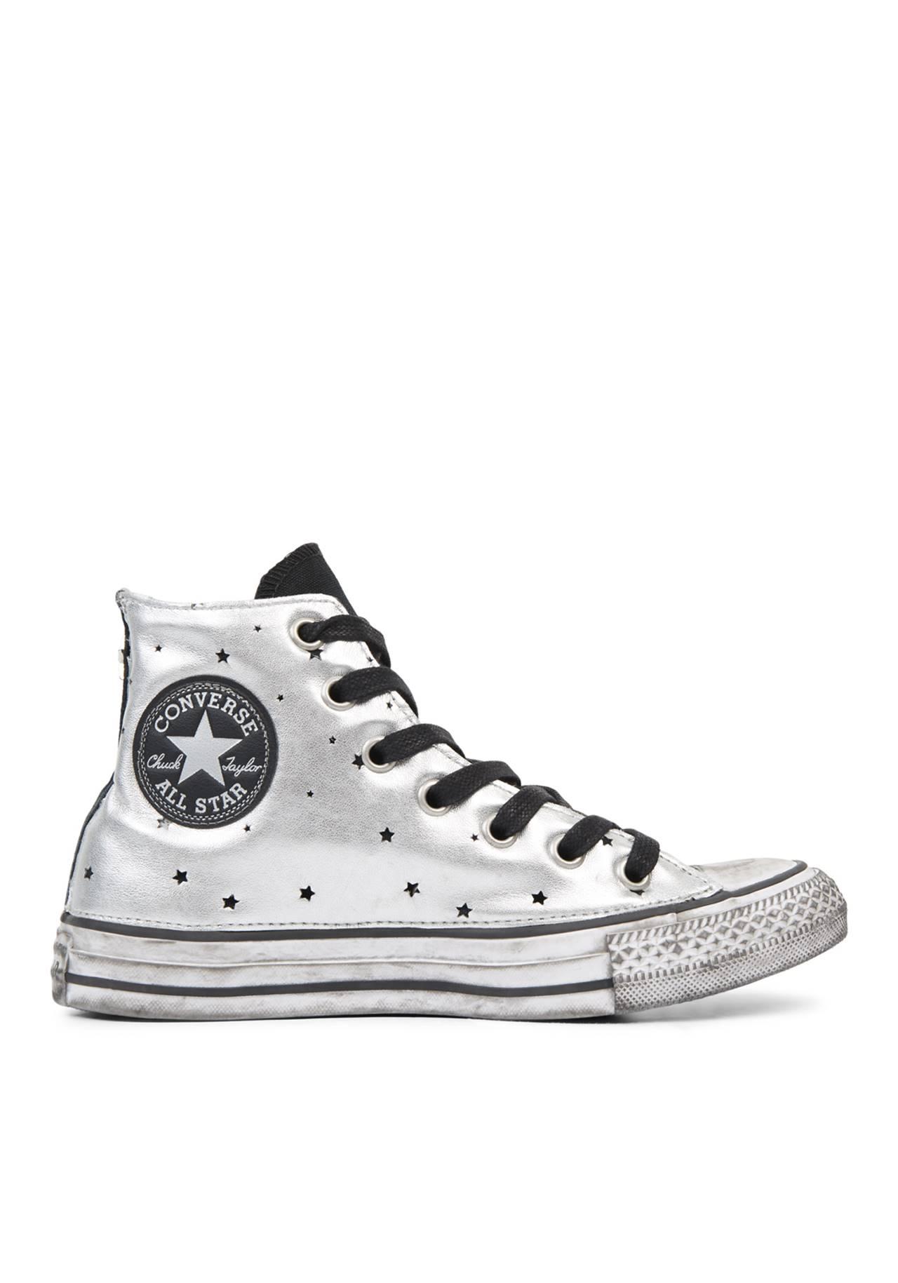zapatillas converse plateadas