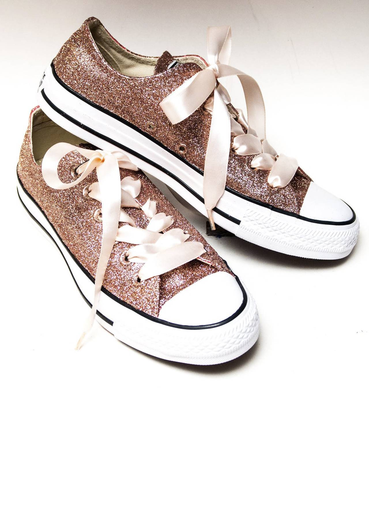 Converse Rose Gold Glitter All Star Low