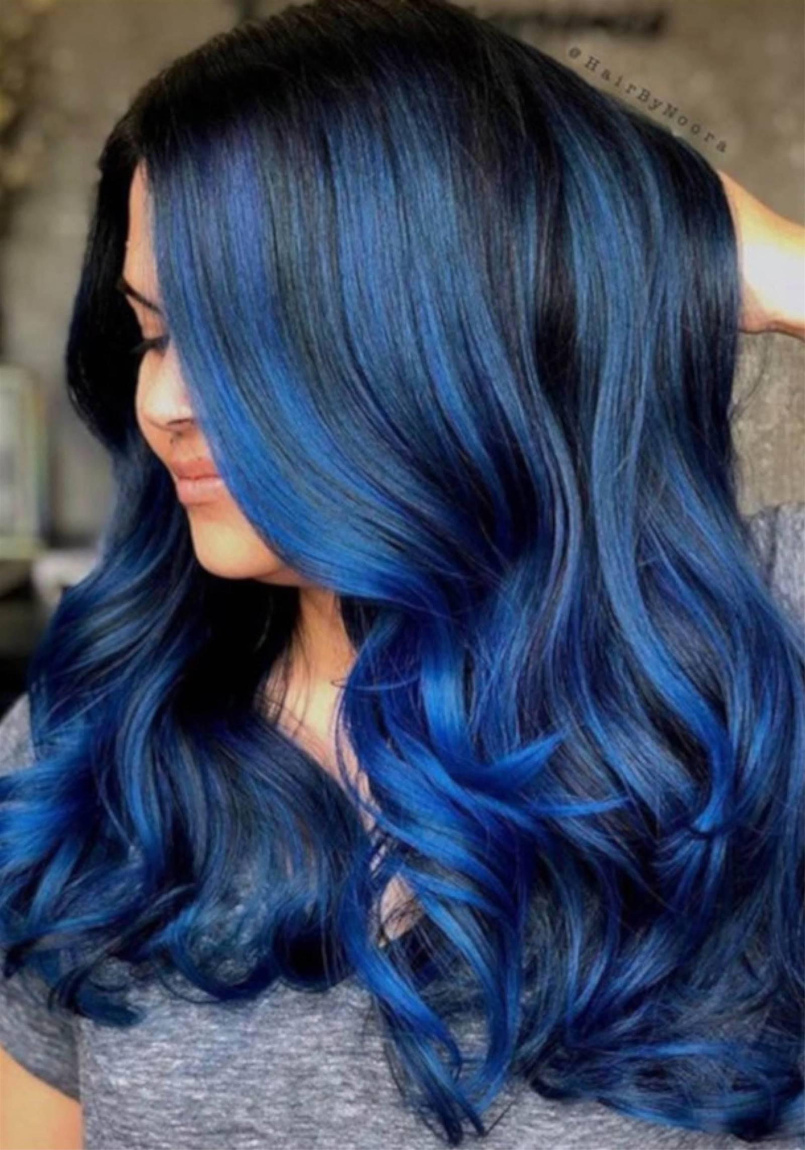 Cabello azul degradado