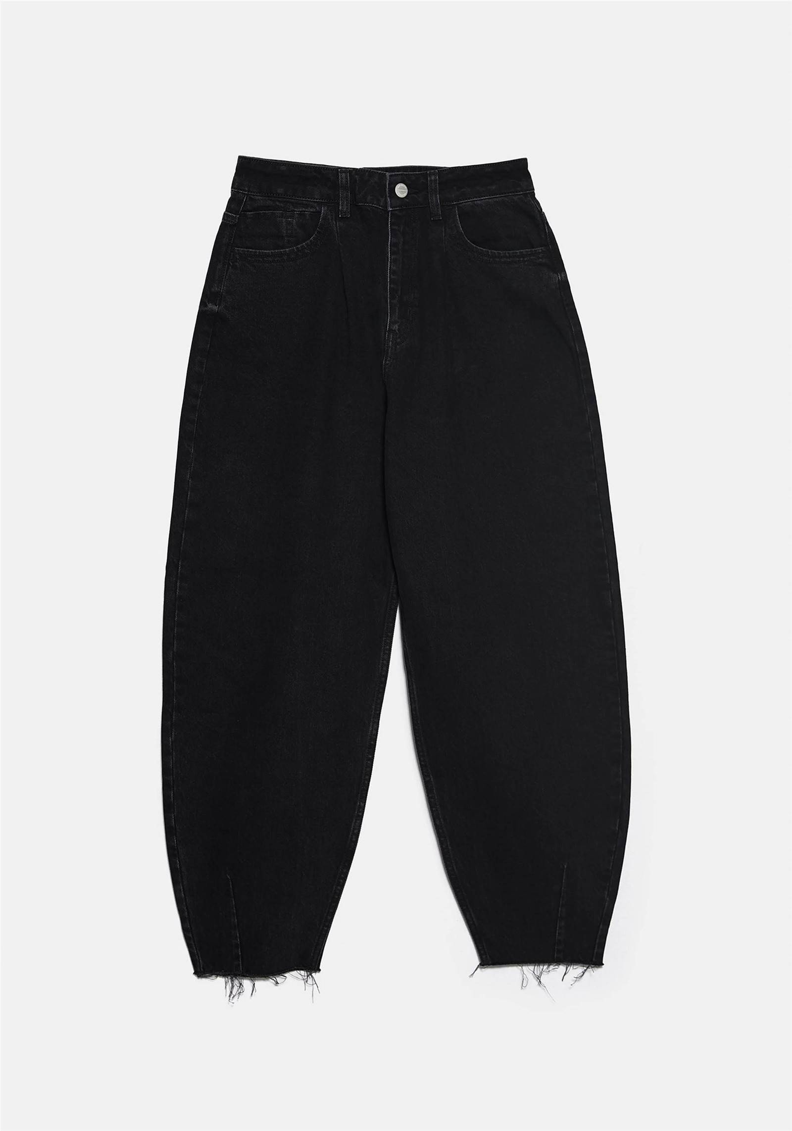 pantalon slouchy zara color negro
