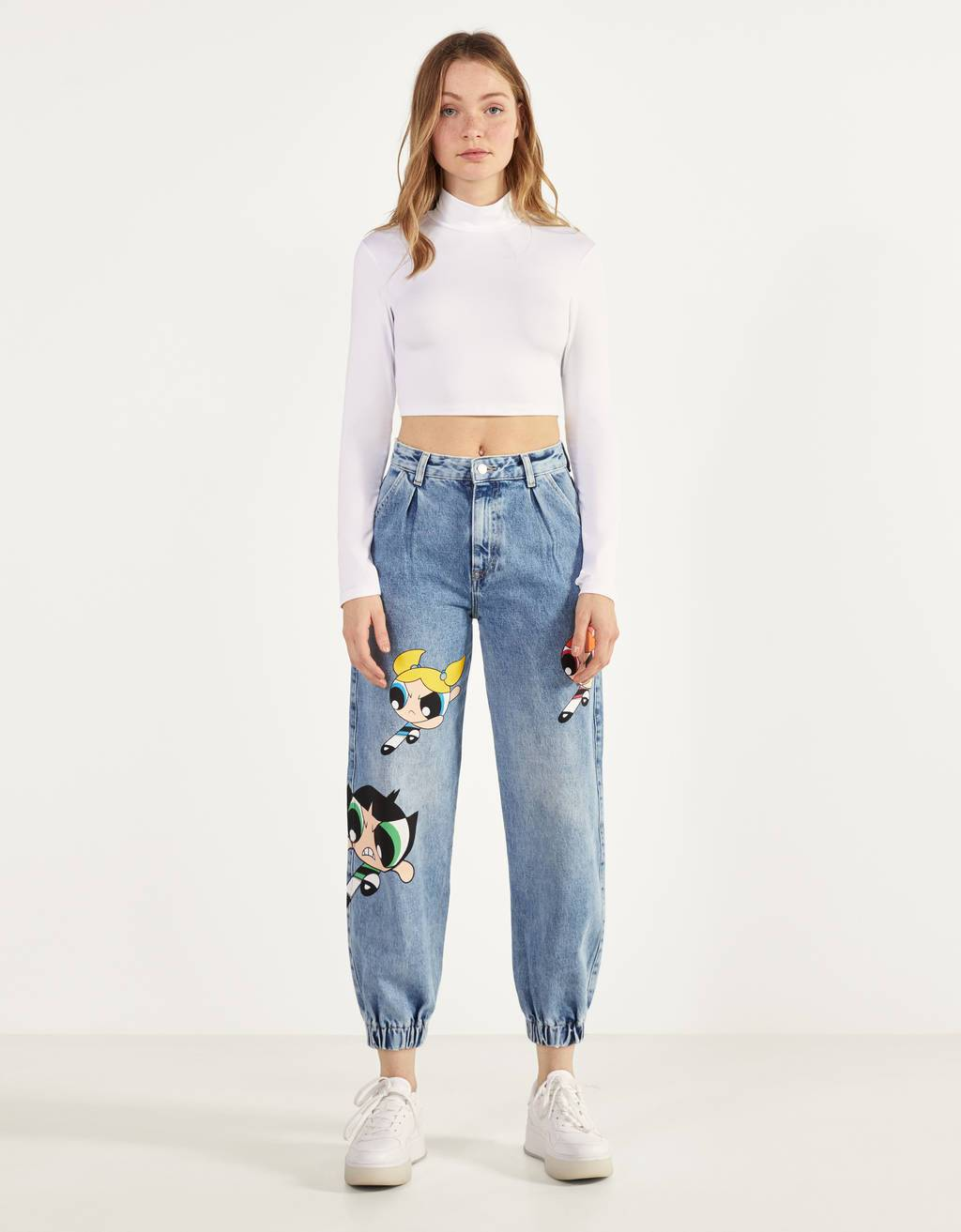 Jeans Balloon Fit Las Supernenas x Bershka