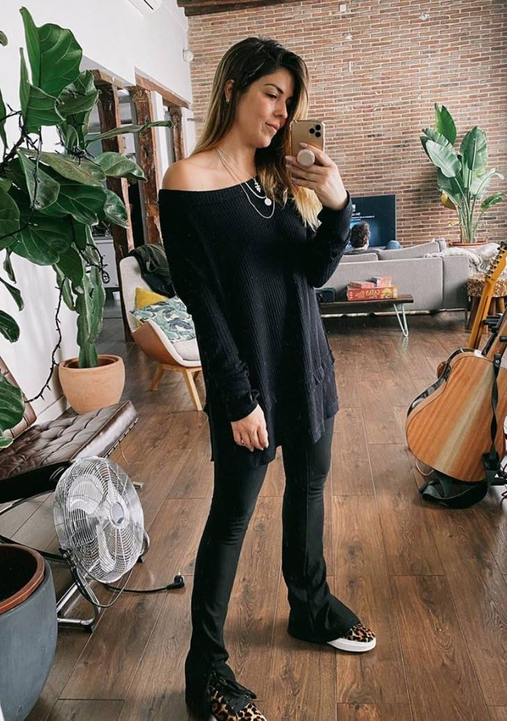 Tendy taste leggings negro flare