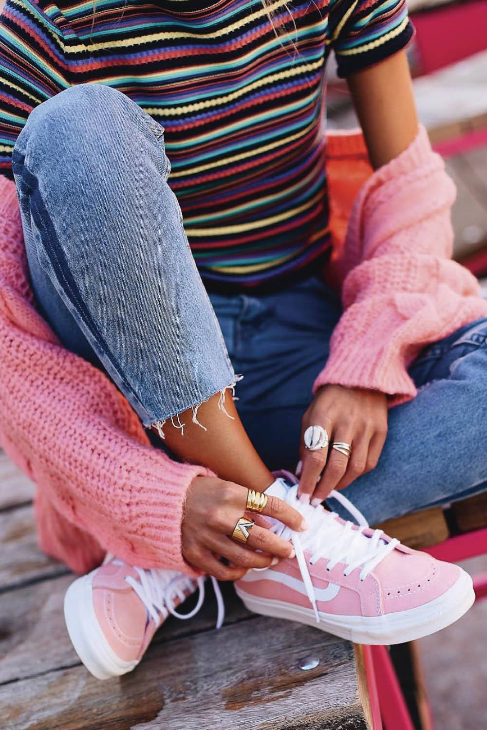 looks con vans mujer rosa