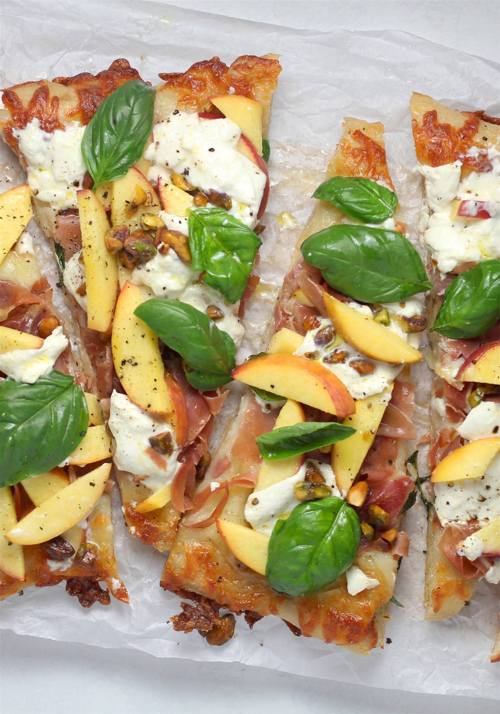 pizza saludable toppings ligeros con fruta
