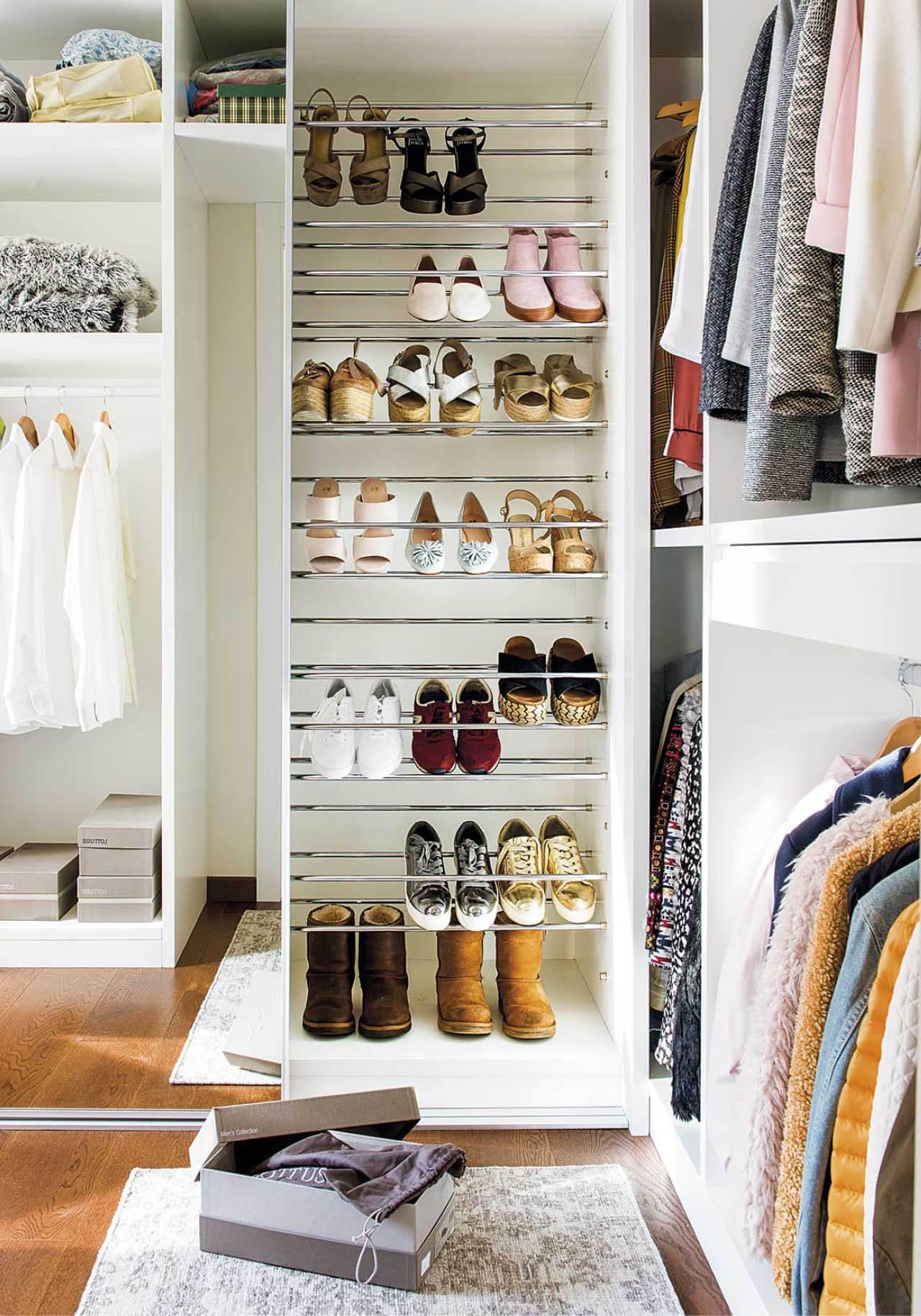 16 ideas para ordenar todos tus zapatos