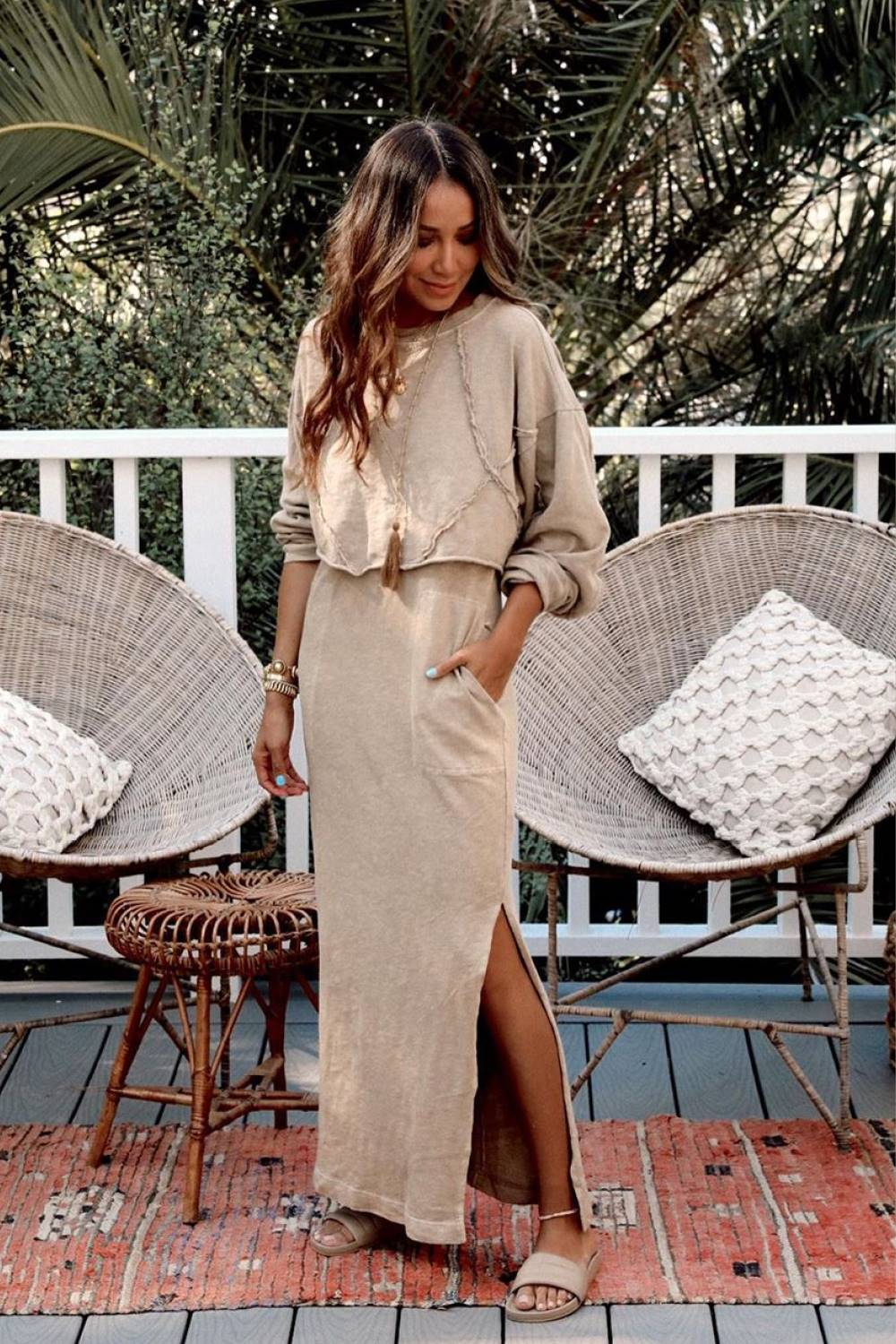 Chicas bajitas @sincerelyjules total look