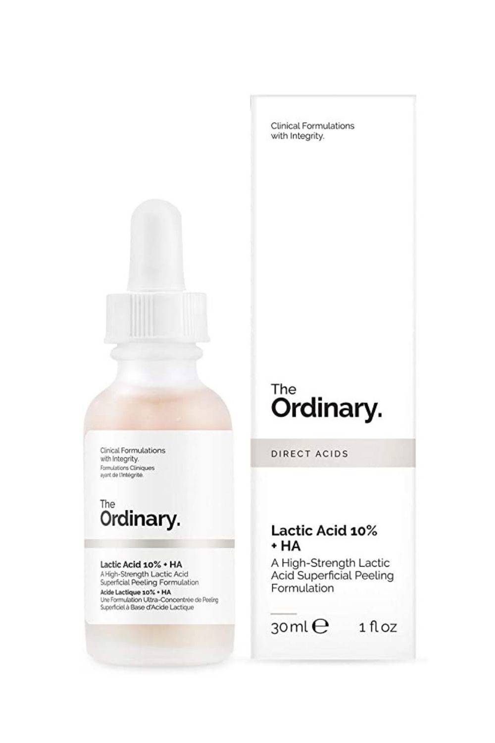 THE ORDINARY Lactic Acid 10% + Ha | 30ML Exfoliante superficial con ácido láctico