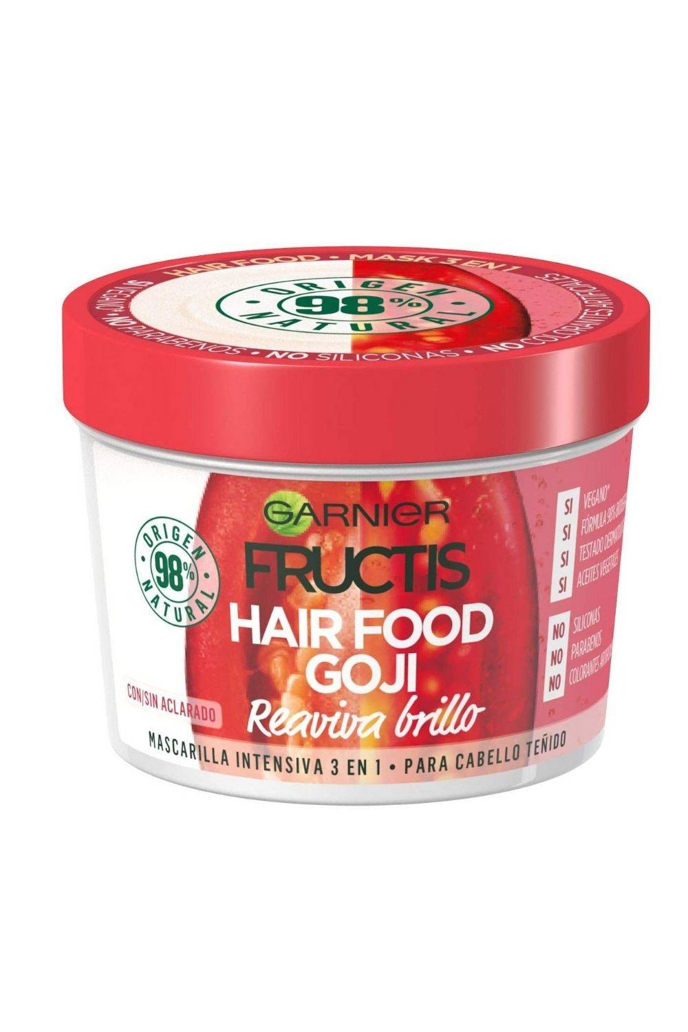 Garnier FRUCTIS HAIR FOOD goji mascarilla reaviva brillo